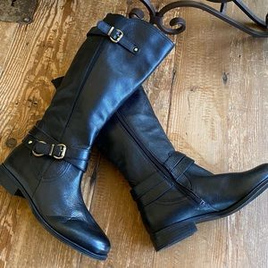 Naturalizer Black Leather Riding Boot